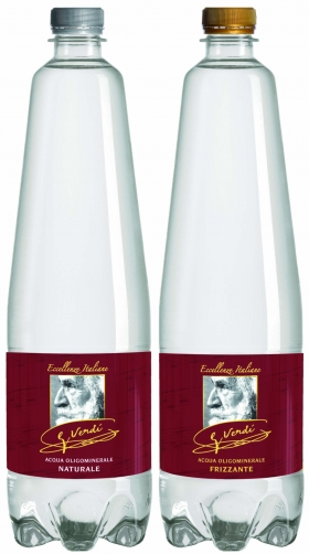 NATURAL MINERAL WATER bottled in glass or PET - GVERDI
